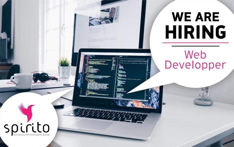 SPIRITO WE ARE HIRING web developer